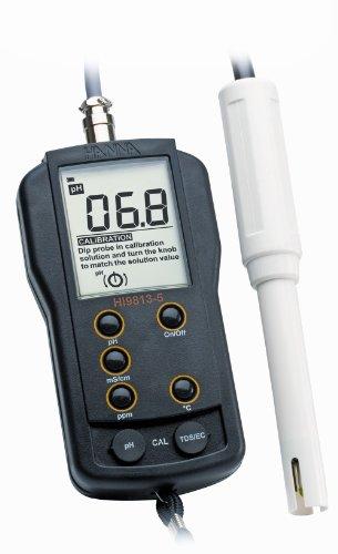 41clpsEXMFL Hanna Instruments HI HI9813-5N Waterproof pH/EC/TDS Meter, with Multiparameter Probe
