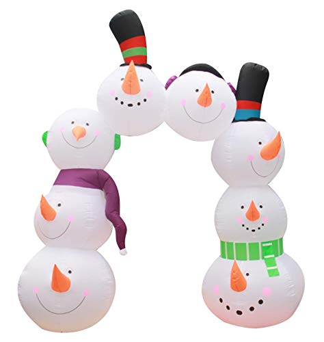 inslife 10 Ft Christmas Inflatable Snowman Arch Decorations Archway Decoration for Indoors Outdoors Yad Home Garden -