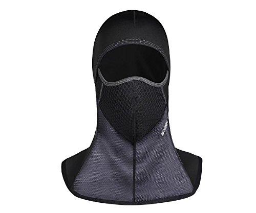 Balaclava Black Water-Repellent Lycra Fabric Winter Outdoor Sports Wind Ski Mask Ride Motorcycle Warm Mask Hat Headdress Women/Man