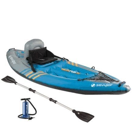 Sevylor K1 QuikPak 21 Gauge PVC Inflatable Coverless Sit-On-Top 1 Person Kayak