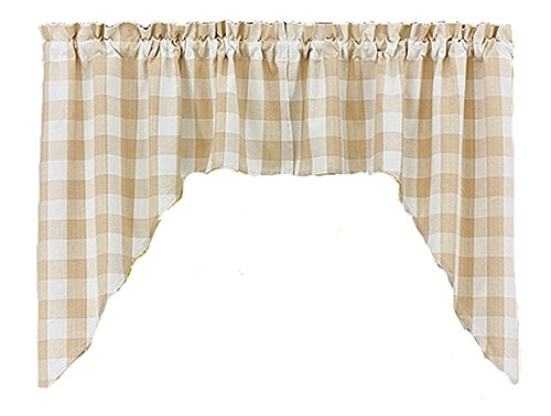 Wicklow Curtain Swag Flax