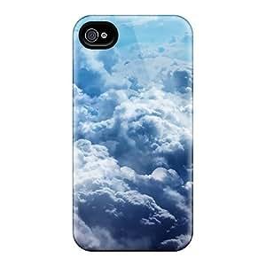 New Sky Cloud Clouds In X Jootix Tpu Case Cover, Anti-scratch 6Plus Phone Case For Iphone 4/4s