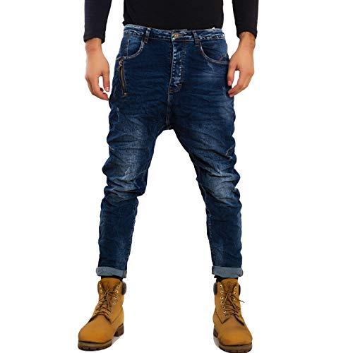 1 Harem Jeans Gen Modelli Vari Casual M1215 Uomo Denim Cavallo Toocool Pantaloni Basso wpAcPy4H4q