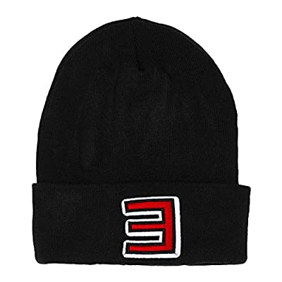 Eminem Big E Logo Knit Cuffed Knit Beanie Hat - Black