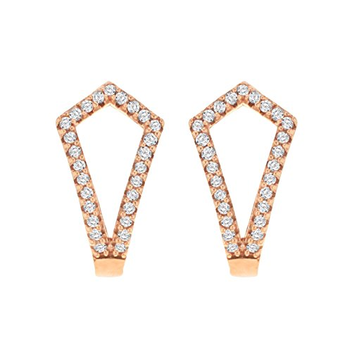 Pave Prive femme  9 carats (375/1000)  Or rose|#Gold Rond   Transparent Diamant