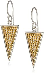 """Anna Beck Designs """"Gili Divided"""" Gold Plated Triangle Drop Earrings"""