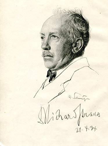 (Richard Strauss (+) COMPOSER autograph, signed portrait)