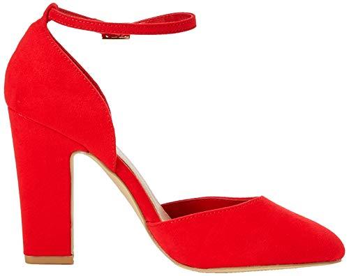 Punta Scarpe Donna Bright 60 Red Look Chiusa New col Foot Red Rachel Wide Tacco 0wPIz
