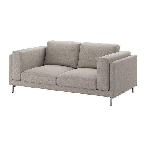 Amazon.com: Ikea Loveseat, Tenö light gray, chrome plated ...