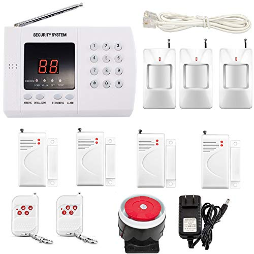 iMeshbean Wireless Home Security Alarm Burglar System 99 Zone Auto Dialing Dialer with 3 Motion Sensor & 4 Door Sensor and 2 Remote M#03 USA