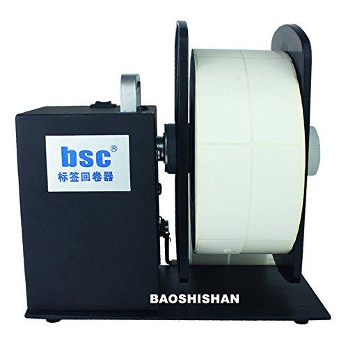 BAOSHISHAN Automatic Label Rewinder Rewinding Machine Width 90mm/3.5inch Roll Core Diameter 1/1.5/3 Inch Two-Way Rollback 110V-240V (A5)