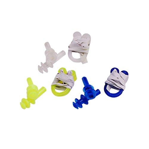bouchon d'oreille et clip du nez - TOOGOO(R) 12 pcs en plastique clip du nez + bouchon d'oreille kit pour la natation