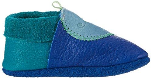 Pololo Unisex Baby Chamäleon Krabbel-& Hausschuhe Blau (Blau)