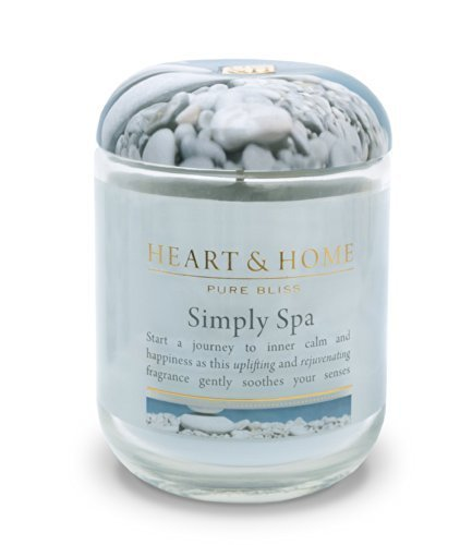 Heart & Home Large Glass Simply Spa Candle by Heart & Home