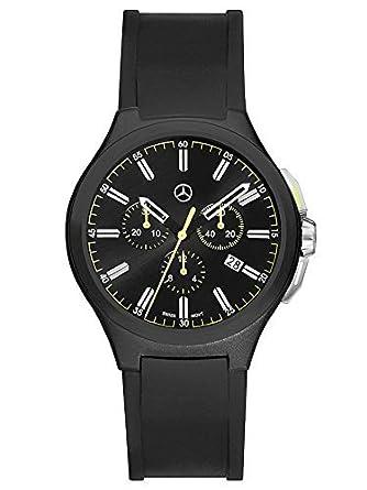 Mercedes-Benz - Chronograph Herren - Mercedes-Benz - Sport Fashion schwarz - gelb - Edelstahl - Silikon