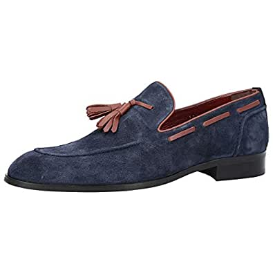 Konfidenz Navy blue Loafers & Moccasian For Men