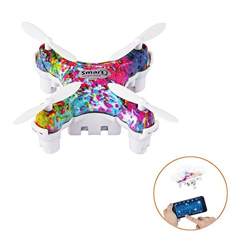 Dayan Anser Nano WIFI RC Cheerson CX-10DS 2.4G 4CH 6 Axis Mobile Phone Control for iOS / Android APP Wireless Wifi Remote Control Hover Rotate Excellent Mini Altitude Hold Quadcopter (Colorful)