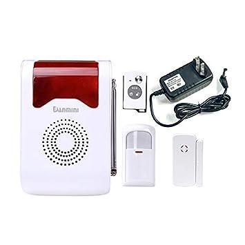 Alarma de Voz inalámbrica Petterson Sitio acústico óptico Día/Noche Punto de Trabajo Sistema de Alarma residencial Dector Estudio máximo 160 Detectores ...