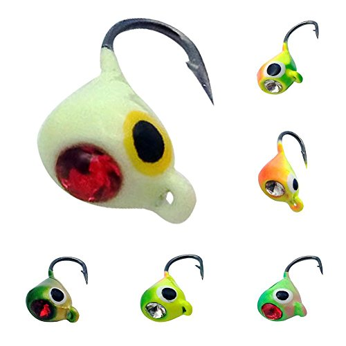 6k Ice (Etopsell Lead Head Ice Fishing Lure Jigs- Pack of 6)