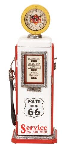 Deco 79 Wood Gas Pump Clock, 21 by 7-Inch