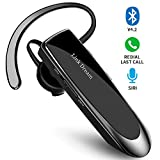 Bluetooth Earpiece, Wireless Bluetooth V4.2 Headset Handsfree 1440 Hours Standby Time with Noise Cancelling in-Ear Headphones Earbuds for Business/Office/Driving, Compatible iPhone/ Android/ Samsung and Other Smart Cellphone(Black)