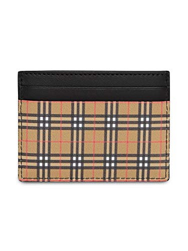 Burberry Men's Vintage Check Beige Sandon Card Case (Vintage Burberry Scarf)