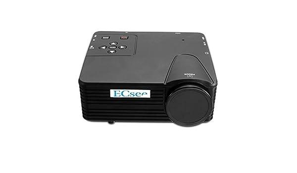 Sut Ecsee H80 Mini 1080p HD LED Portable proyector Home Cinema TV ...