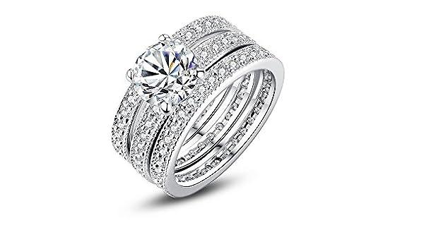 705310924962 Amazon.com  Dixey Luxury Argollas de Matrimonio en Plata Anillos Sortijas  14k de Compromiso