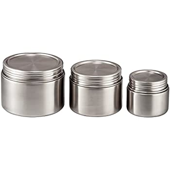 Amazoncom Stainless Steel Food Storage Containers Set of 3 8 oz