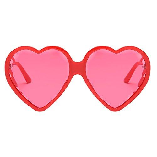D DOLITY Gafa de Sol Lente de Corazón Anteojos Protección ...