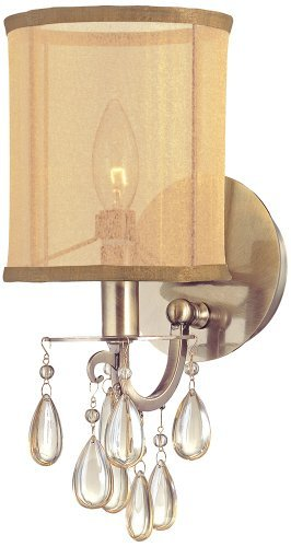 Crystorama Antique Brass Sconce - Hampton 1 Light Wall Sconce Finish: Antique Brass