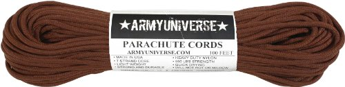 Army Universe Chocolate Brown 550LB Military Nylon Paracord Rope 100 Feet by Army Universe (Image #2)