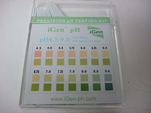 Alkaline pH 4.5-9.0 TEST STRIPS FOR body level URINE & SALIVA Precision pH testing kit (100 Strips per Pack)