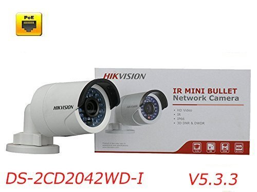 HIKVISION V5.3.3 4MP International Version POE IP Bullet Camera Security DS-2CD2042WD-I 6mm firmware upgradeable by Hikvision