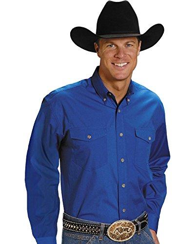 Roper Men's Amarillo Collection Western Shirt Royal X-Large
