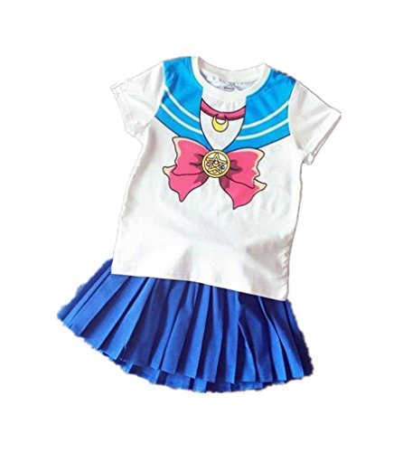(Acccity Halloween Baby Girls Sailor Moon Anime Cosplay Costume Skirt (Blue, Kid)
