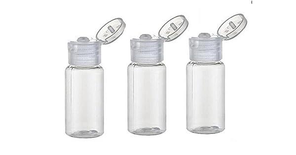 Amazon.com: Botella de 15 ml con tapón vacío de plástico ...