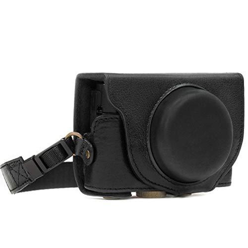 MegaGear  #34;Ever Ready #34; Protective Leather Camera Case, Bag for Sony Cyber shot DSC RX100 V, DSCRX100M5  Black