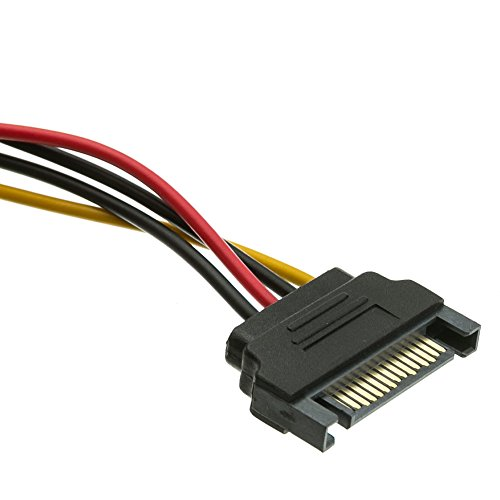 ACL 14 Inch Serial ATA Male to Dual Serial ATA Female, 15 Pin SATA Power Y Cable, 4 Pack by ACL (Image #1)