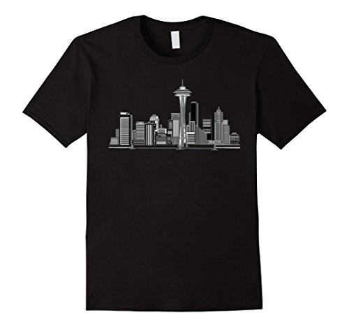 Men's Seattle Skyline on a Tee Shirt Medium - Seattle Downtown Shops