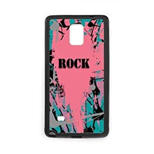 JFLIFE Rock Roll Phone Case for samsung galaxy note4 Black Shell Phone [Pattern-3]