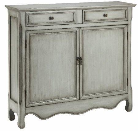 Stein World Furniture 13016 2 Door Cupboard, Gray For Sale