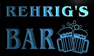 w026913-b REHRIG Name Home Bar Pub Beer Mugs Cheers Neon Light Sign
