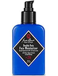 Jack Black Double-Duty Face Moisturizer – SPF 20, Broad-Spectrum Sunscreen, Lasting Hydration, Contains Potent Antioxidants and Vitamins, Organic Ingredients, Cruelty-free and Vegan