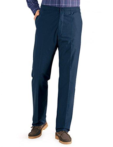 Hommes Fleece Lined Tirage Thermique Élastique Cordon Pantalon Bleu 117cm x 79cm