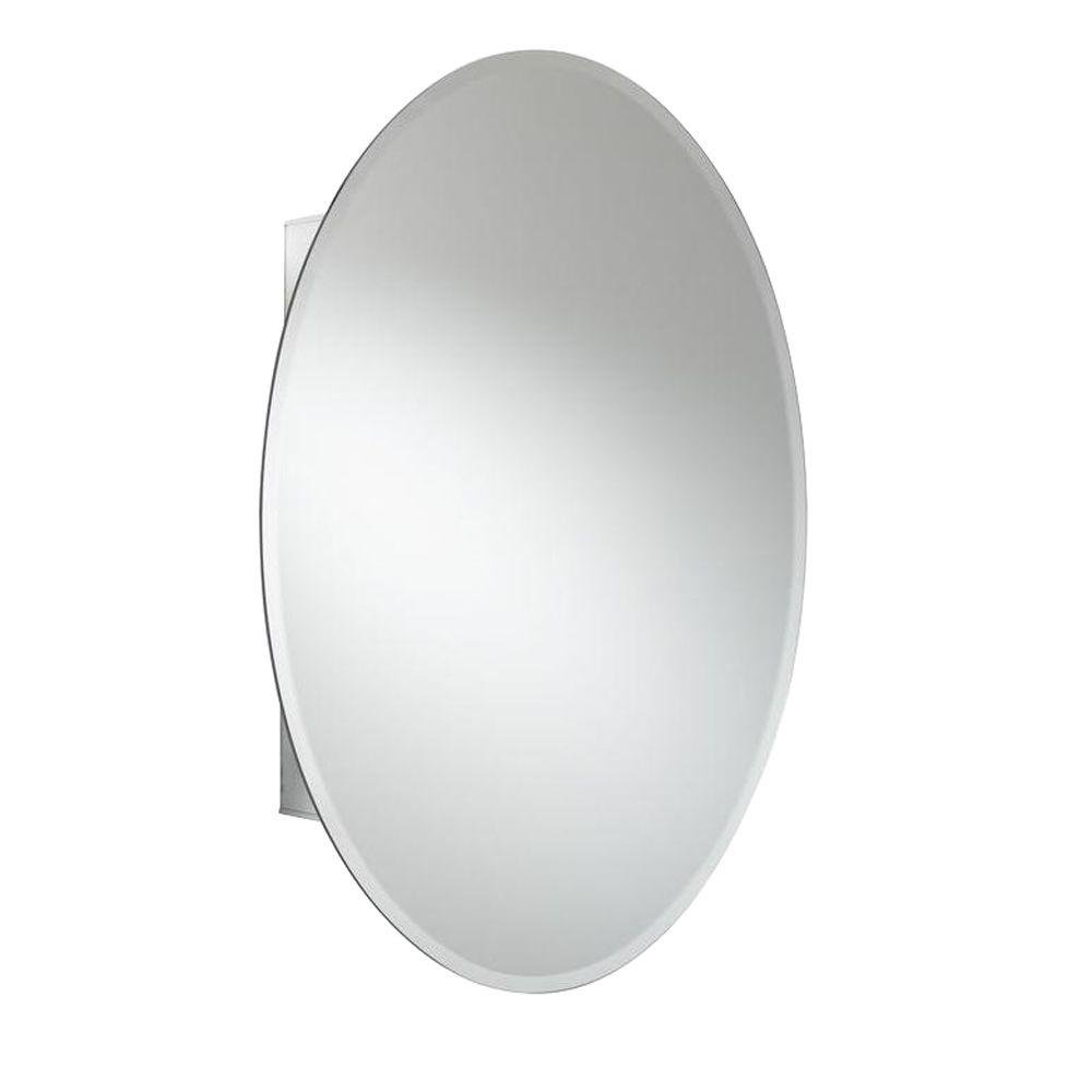 Croydex Orwell 31-Inch x 21-Inch Oval Recessed or Surface Mount ...