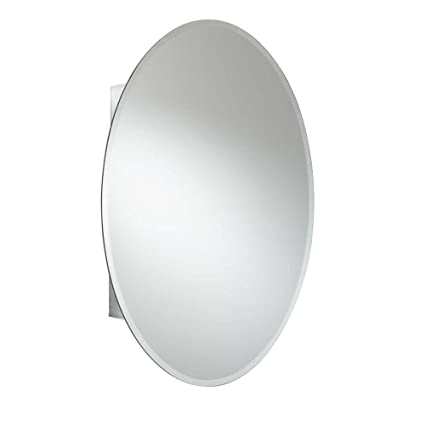 Croydex Orwell 31 Inch X 21 Inch Oval Recessed Or Surface Mount