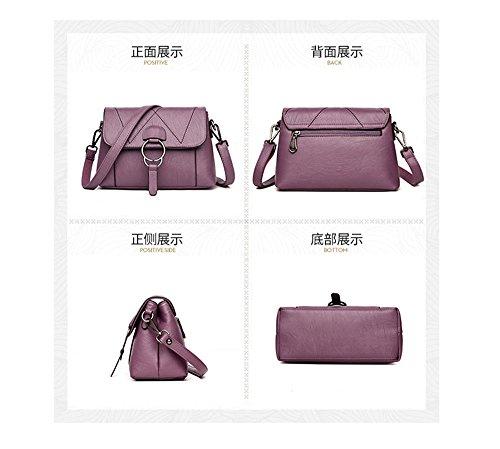 With Sjmmbb violeta Single Bag Lady's Fashion Lady's Moda Bag Bolso Violeta Violet Con Solo Violet Sjmmbb Soft Bolso Suave 25x17x11cm 25x17x11cm gxrgSwq6n