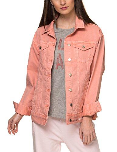 Sh By Silvian Heach Women's Refente Women's Pink Denim Jacket Cotton Pink