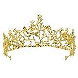 Tiara,Vofler Gold Crown Baroque Vintage Retro
